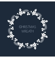 Christmas greeting wreath with rowanberryfir vector image