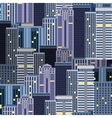 city skyscrapers seamless pattern vector image