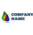Colorful drops creative idea logo design template vector image vector image
