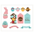 Colorful Happy Easter collection of icons with vector image