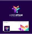 colorful letter y logo design vector image