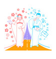 concept of an important moment japanese holiday vector image