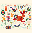 ethnic easter pattern vector image vector image