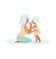 family scenes mother and daughter spend time vector image