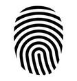 fingerprint icon black color flat style simple vector image vector image