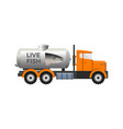fish tank truck vector image