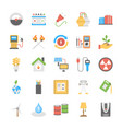 flat power and energy icons set vector image