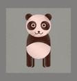 flat shading style icon panda bear vector image vector image