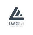 geometric triangle logo design business identity vector image vector image
