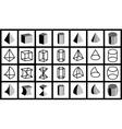 geometrical figures vector image vector image