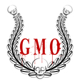GMO emblem vector image vector image