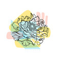 hand drawn flower with colorful abstract backdrop vector image vector image