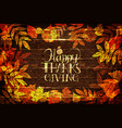 happy thanksgiving holiday banner vector image vector image