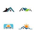 home real estate logo vector image vector image