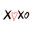 icon sketch hugs and kisses vector image vector image