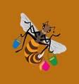Insect bee vector image