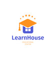 knowledge house flat logo university college and vector image