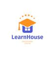knowledge house flat logo university college vector image