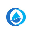 letter o water logo icon vector image
