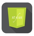 light green shield with css vector image vector image