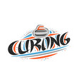 logo for curling sport vector image vector image