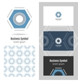 Logo for your company Hexagon Business card and vector image vector image