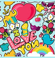 love and gifts concept - i love you vector image
