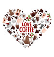 love coffee design concept vector image