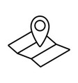 map with map pin line icon vector image