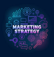 marketing strategy colorful in vector image vector image