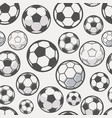 monochrome soccer balls background football or vector image vector image