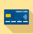 nfc credit card icon flat style vector image