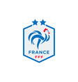 official logo france football federation vector image