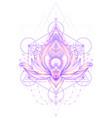 ornamental lotus flower ethnic art vector image vector image