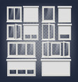 plastic pvc windows set different types vector image vector image
