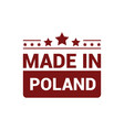 poland stamp design vector image