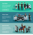 Police People Flat Banners vector image vector image