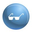 polycarbonate glasses icon simple style vector image vector image