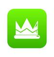 prince crown icon green vector image vector image