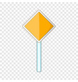 priority road sign icon cartoon style vector image vector image