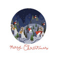 round christmas-themed plate design vector image