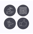 Save nature thumb up and direction icons vector image vector image