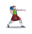 Scottish Playing Shotput vector image vector image