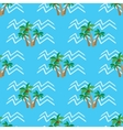 Seamless pattern tropical coconut palm trees and vector image