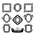 Set of vintage baroque frames vector image