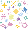 Sparkles colourful symbols vector image