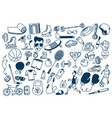 sport fitness healthy lifestyle doodle hand drawn vector image vector image