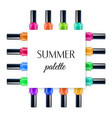 summer palette frame vector image