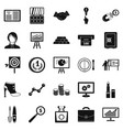 symposium icons set simple style vector image vector image