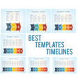 template timeline infographic colored horizontal vector image vector image